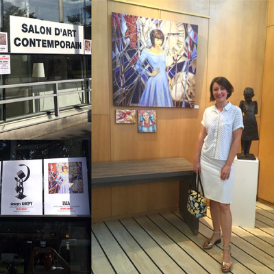 IXIA Artiste - Premier vernissage du 64e Salon Violet 15 juin 2017 à lHôtel Forest Hill Paris-La Villette