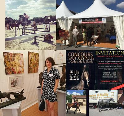 IXIA Artiste - Lassociation EPONARTS dont je fais partie a eu la joie de proposer une exposition de ses artistes dans le cadre du Concours de saut dobstacles des Cadets de la Garde Paris, 16-18 juin 2017
