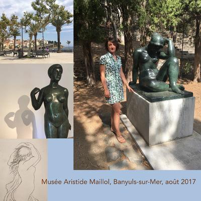 IXIA Artiste - Visite du Musée Aristide Maillol à Banyuls-sur-Mer, intime et empreint de lâme du Maître...