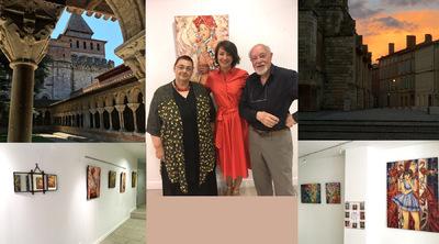 IXIA Artiste - Exposition personnelle dans le cadre de Lart sinvite à Moissac Août 2017 3 semaines de rencontres fantastiques, de partage et damitié... Ici avec le peintre Jean Coladon et son épouse Colette.