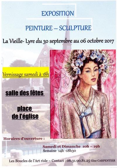 IXIA Artiste - IXIA est linvitée dhonneur du Salon dautomne de la Vielle-Lyre dans lEure (27). Du 30 septembre au 6 octobre 2017.