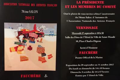 IXIA Artiste - IXIA est sélectionnée au 70e Salon de lANAF, grande date anniversaire, du 27 septembre au 8 octobre 2017, Saint-Mandé (92).