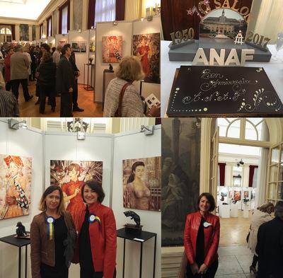 IXIA Artiste - 70e Salon de lANAF à Saint-Mandé, jour de vernissage. Un grand MERCI au maire Patrick Beaudouin, son équipe et au Bureau pour leur accueil formidable ! 27/09/2017
