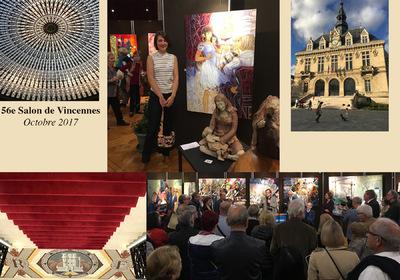 IXIA Artiste - 56e Salon de Vincennes Octobre 2017 Invité dhonneur : Jacques Courtois Toile dIXIA sélectionnée : Alice, le théâtre des merveilles.