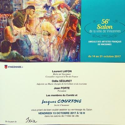 IXIA Artiste - Première participation au prestigieux 56e Salon de la ville de Vincennes Octobre 2017