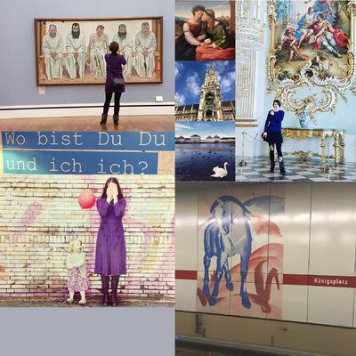 IXIA Artiste - Neue Pinakothek, Nymphenburg Palace, Lenbachhaus Munich Février 2017