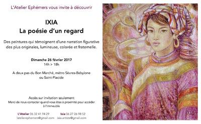 IXIA Artiste - LAtelier Ephémers Paris 26 février 2017