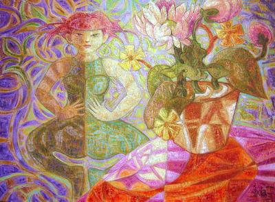 IXIA Artiste - Lesprit floral 73 x 54 cm 2007