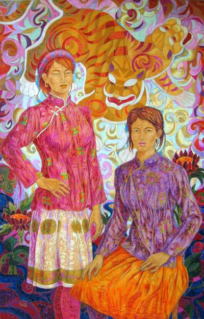 IXIA Artiste - En ce jour de fête 97 x 146 cm 2008