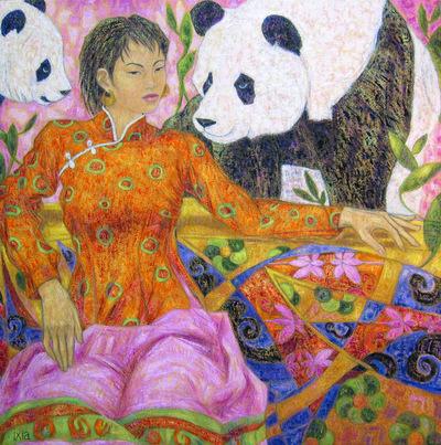 IXIA Artiste - Harmonie de Chine 80 x 80 cm 2008