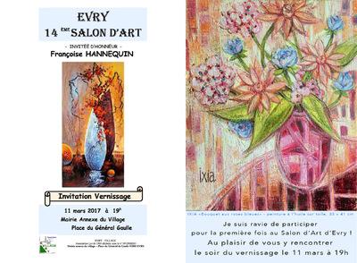 IXIA Artiste - 14e Salon dArt Evry (91) Mars 2017