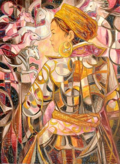 IXIA Artiste - Les chevaux de Thien 54 x 73 cm Huile sur toile Collection de lUniversité Paris 1 Panthéon-Sorbonne (Paris) NON DISPONIBLE/NOT AVAILABLE