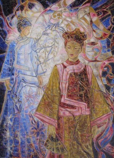 IXIA Artiste - Lesprit du cheval 73 x 100 cm Huile sur toile VENDU / SOLD NON DISPONIBLE / NOT AVAILABLE