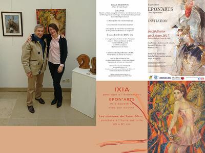 IXIA Artiste - EponArts Salon darts équestres Saint-Mandé (92) Février - mars 2017