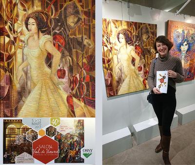 IXIA Artiste - 40e Salon du Val de Viosne Château de Grouchy Invités dhonneur : Eric LECAM (peinture) et Christian PAIX (sculpture) Osny (95) Mars 2017