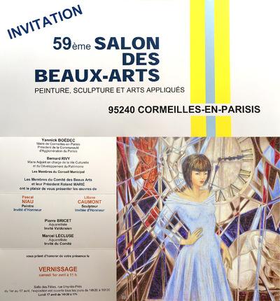 IXIA Artiste - 59e Salon des Beaux-Arts Cormeilles-en-Parisis Avril 2017 Invités dhonneur : NIAU, CAUMONT, BRICET et LECLUSE