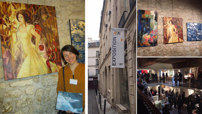 IXIA Artiste - Salon international des arts 2016 Académie européenne des arts France Invités dhonneur : Christina Marques (sculpture) et Ivan (peinture) IXIA expose Blanche-Neige 81 x 100 cm Paris 6e Mars 2017 http://www.aeaf.fr/