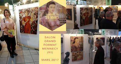 IXIA Artiste - Vernissage du magnifique 55e Salon Grand Format de Mennecy (91) 25 mars 2017 En présence de M. le Maire Dugoin-Clément, des responsables Michel Buret et Michèle Guivarch, des invités dhonneur Eric Lecam et Didier Dantras