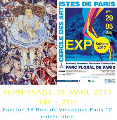 IXIA Artiste - Cercle des artistes de Paris Parc floral Avril-juin 2017