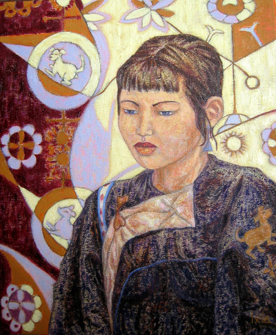 IXIA Artiste - Sous le signe du chien 38 x 46 cm 2004