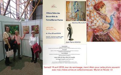 IXIA Artiste - 60e Salon des Beaux-arts de Cormeilles-en-Parisis, 95 Jour de vernissage Avril 2018