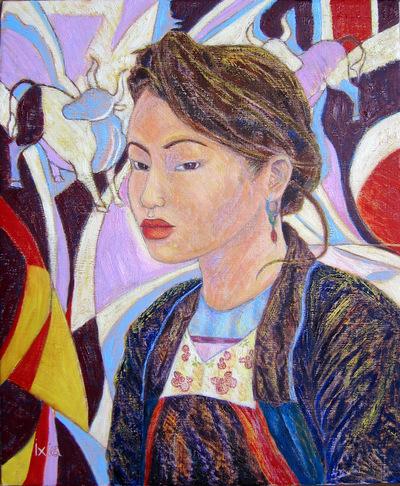 IXIA Artiste - Sous le signe du buffle 38 x 46 cm 2004