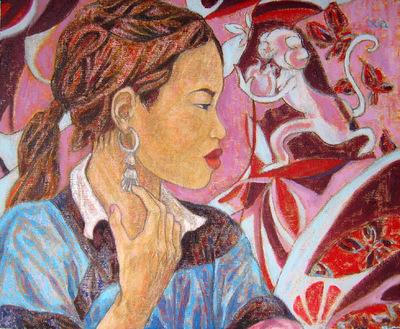 IXIA Artiste - Sous le signe du singe 46 x 38 cm 2004