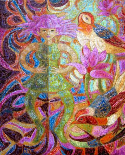 IXIA Artiste - Les oiseaux 33 x 41 cm 2008