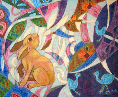IXIA Artiste - Le jardin des saisons 46 x 38 cm 2006