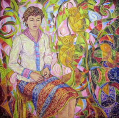 IXIA Artiste - Au coeur des Philippines 80 x 80 cm 2009