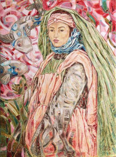 IXIA Artiste - Jeune Mauresque aux carpes 60 x 81 cm 2018