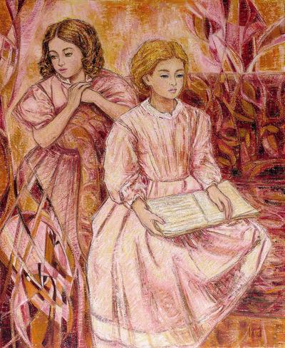 IXIA Artiste - Camille et Madeleine ou La lecture 73 x 92 cm 2018