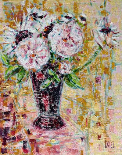IXIA Artiste - Les soleils roses 33 x 41 cm 2018