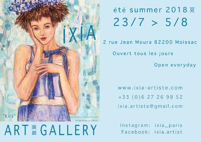 IXIA Artiste - Galerie éphémère en haut de la Rue des Arts, dans le cadre de la saison 3 de LArt sinvite à Moissac