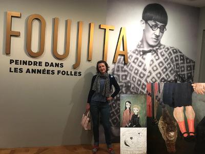 IXIA Artiste - Visite du Musée Aristide Maillol à Paris, à loccasion de la grande exposition sur FOUJITA... Printemps 2018