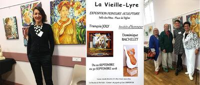 IXIA Artiste - Salon dart des Boucles de la Risle à la Vieille-Lyre (Eure). Rencontre exceptionnelle avec le grand peintre fauve et publiciste Pierre MAGNIN, venu en voisin. Septembre 2018