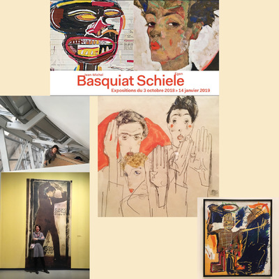 IXIA Artiste - SCHIELE - BASQUIAT Fondation Louis Vuitton Octobre 2018