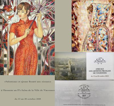 IXIA Artiste - Nouvelle participation participation au prestigieux 57e Salon de la ville de Vincennes Octobre 2018