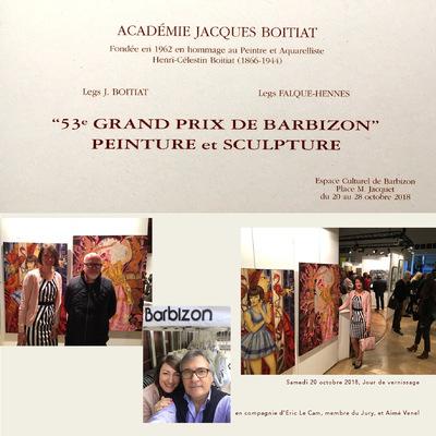 IXIA Artiste - Alice et la Reine de Coeur & Danseuse de Birmanie sélectionnées par le peintre ERIC LE CAM pour participer au Grand Prix de Barbizon 2018, un grand honneur.