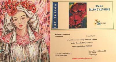 IXIA Artiste - Première participation au Salon dautomne de Moisenay (77), à côté de Vaux-le-Vicomte.