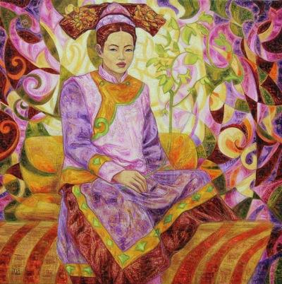 IXIA Artiste - Princesse dautomne 80 x 80 cm 2009