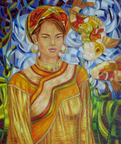 IXIA Artiste - Loan, au bord de leau 60 x 73 cm 2012
