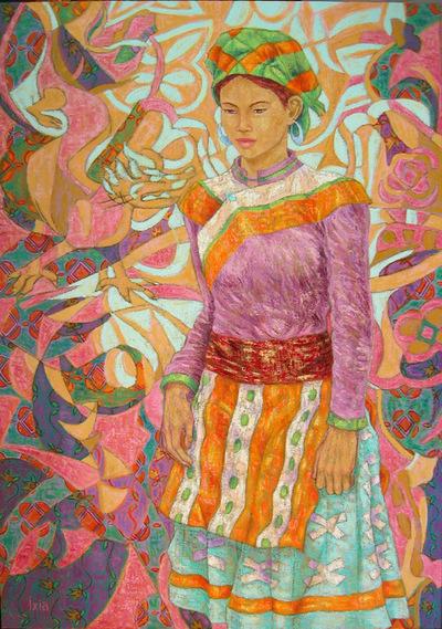 IXIA Artiste - Xuân au dragon 65 x 92 cm 2006