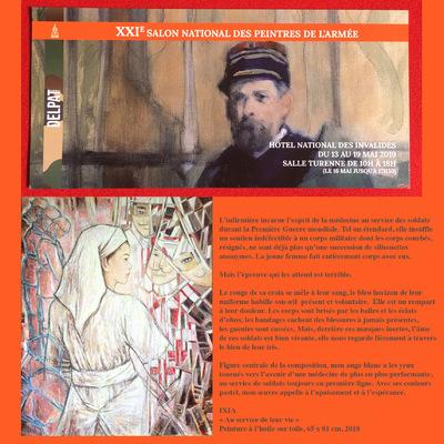 IXIA Artiste - XXIe Salon national des peintres de larmée Hôtel national des Invalides, Paris Mai 2019