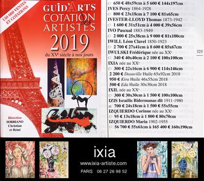 IXIA Artiste - Nouvelle cotation 2019 GuidArts