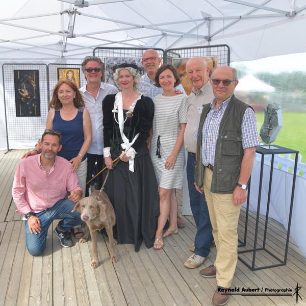 IXIA Artiste - Exposition collective avec EponArts au Haras du Pin (61) à loccasion de la 4e édition des EuropAmazones organisées par Christian Boutolleau. 22 et 23 juin 2019