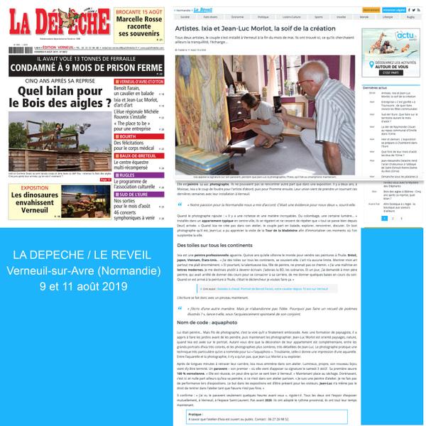 IXIA Artiste - La Dépêche (Verneuil-sur-Avre) & Le Réveil (Normandie) 9 1 11 août 2019