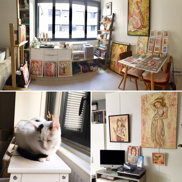 IXIA Artiste - Portes ouvertes de latelier parisien dIXIA, rue de Charonne Septembre 2019
