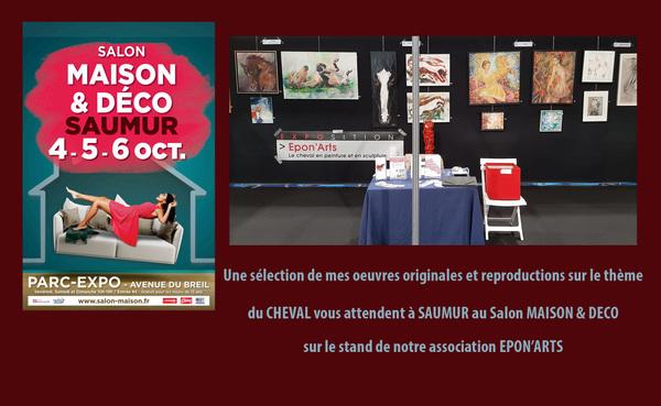 IXIA Artiste - Salon Maison et Déco à Saumur, avec lassociation EPONARTS.
