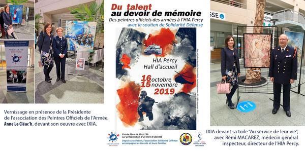 IXIA Artiste - Exposition des Peintres officiels de lArmée à lHIA Percy Octobre - novembre 2019